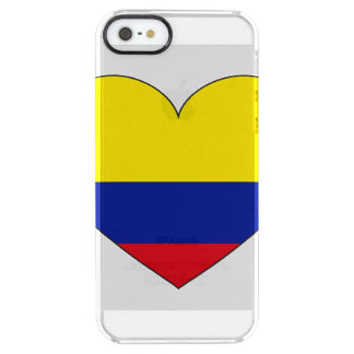 Colombia Flag Heart Clear iPhone SE/5/5s Case