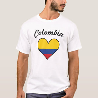 Colombia Flag Heart T-Shirt