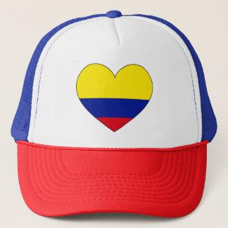 Colombia Flag Heart Trucker Hat