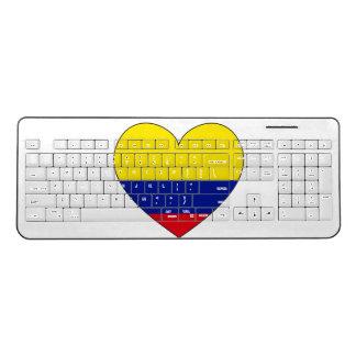 Colombia Flag Heart Wireless Keyboard