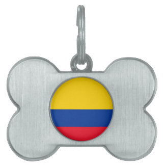 Colombia Flag Pet Name Tag