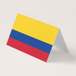 Colombia Flag Place Card
