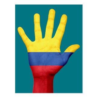 Colombia flag postcard