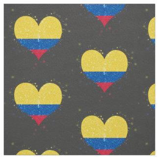 Colombia Flag Shining Beautiful Fabric