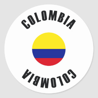 Colombia Flag Simple Classic Round Sticker