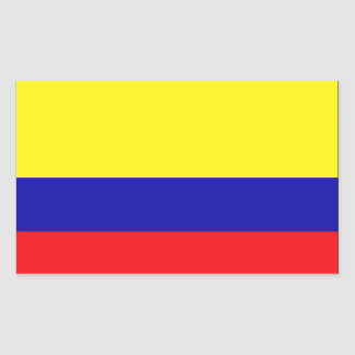 Colombia Flag Rectangular Stickers