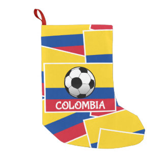 Colombia Football Small Christmas Stocking