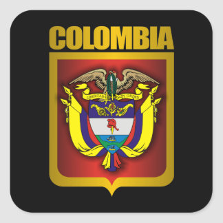 """Colombia Gold"" Square Sticker"