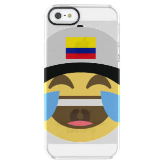 Colombia Hat Laughing Emoji Clear iPhone SE/5/5s Case