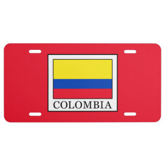 Colombia License Plate