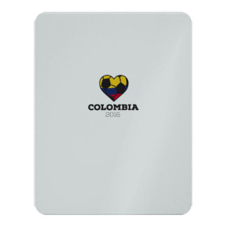 """Colombia Soccer Shirt 2016 4.25"""" X 5.5"""" Invitation Card"""