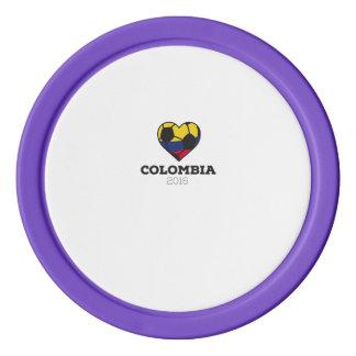 Colombia Soccer Shirt 2016 Poker Chip Set
