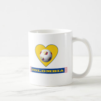 COLOMBIA SOCCER yellow Heart National Team Coffee Mug