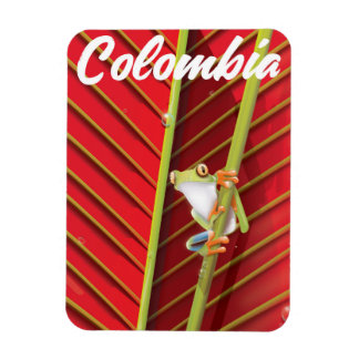 Colombia tree frog travel poster magnet