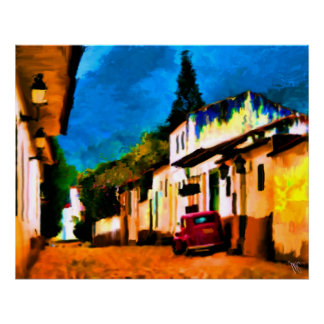 Colombia Villa Matte Painting Poster
