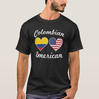 Colombian American Flag Hearts T-Shirt