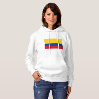 colombian and proud womens basic hooded sweatshirt