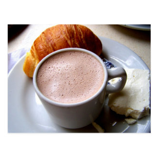 Colombian Chocolate & Cheese Postcard