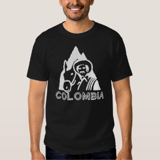 Colombian Coffee image white on black! Shirt