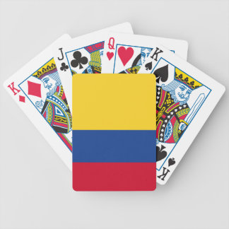 Colombian flag bicycle playing cards
