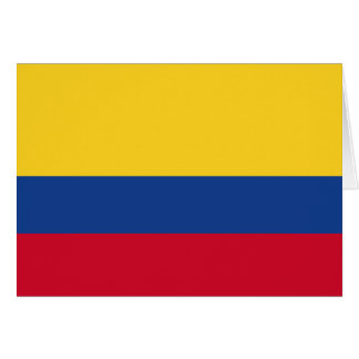 Colombian flag card