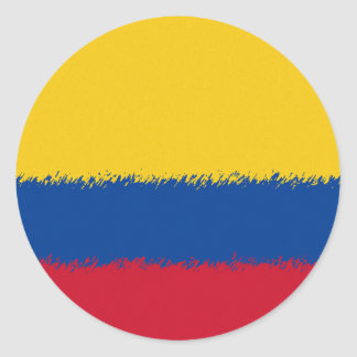 Colombian Flag Classic Round Sticker