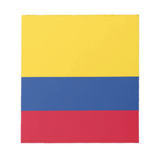 Colombian flag notepad