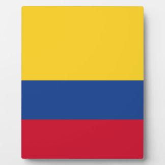Colombian flag plaque