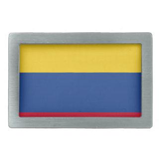Colombian flag rectangular belt buckles