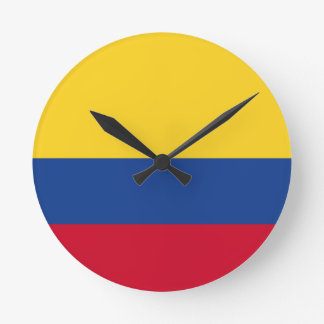 Colombian flag round clock