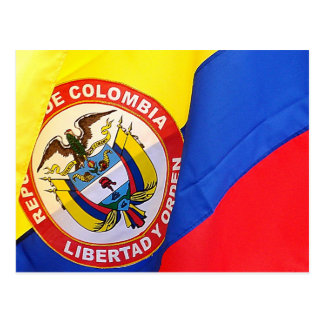 Colombian Flag Travel Post Card