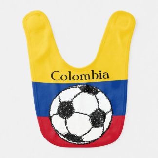Colombian flag with Football Baby Bibs