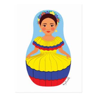 Colombian Matryoshka Postcard