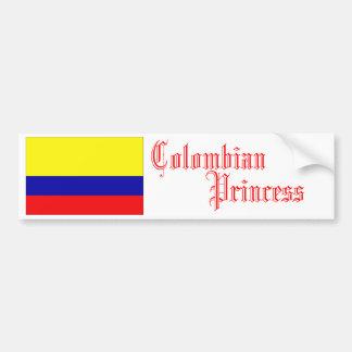 Colombian Princess, Bumper Sticker