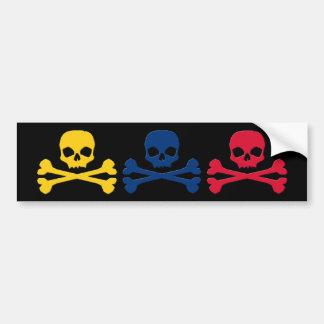 Colombian Skulls Bumper Sticker