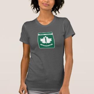 Colombie-Britannique, signe de route du T-shirt
