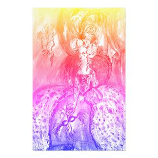 COLOMBINA / Venetian Masquerade Masks Pink Blue Stationery