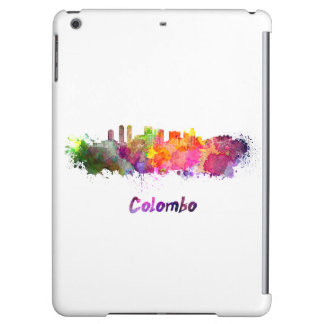 Colombo skyline in watercolor iPad air covers