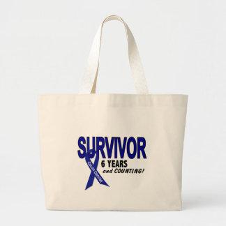 Colon Cancer 6 Year Survivor Tote Bag