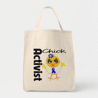 Colon Cancer Activist Chick Canvas Bags