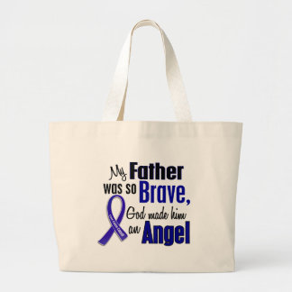 Colon Cancer ANGEL 1 Father Canvas Bags