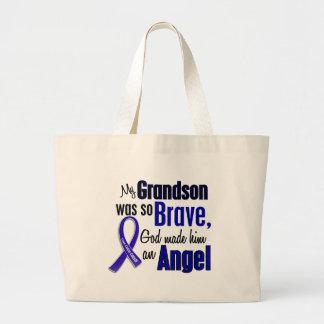 Colon Cancer ANGEL 1 Grandson Jumbo Tote Bag