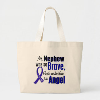 Colon Cancer ANGEL 1 Nephew Tote Bags