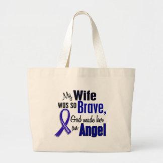 Colon Cancer ANGEL 1 Wife Jumbo Tote Bag