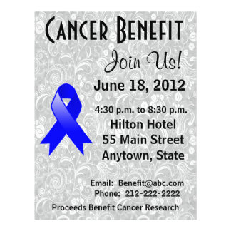 Colon Cancer Awareness Benefit Gray Floral Flyer