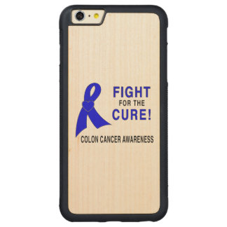 Colon Cancer Awareness: Fight for the Cure! Carved Maple iPhone 6 Plus Bumper Case
