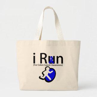Colon Cancer Awareness I Run Canvas Bag