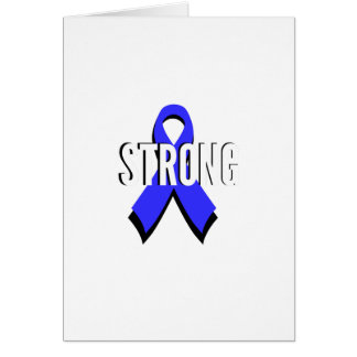 Colon Cancer Blue Ribbon Strong Card