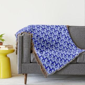 Colon Cancer Blue Ribbon Throw Blanket