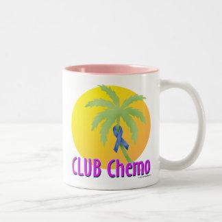 Colon Cancer (blue) Two-Tone Coffee Mug